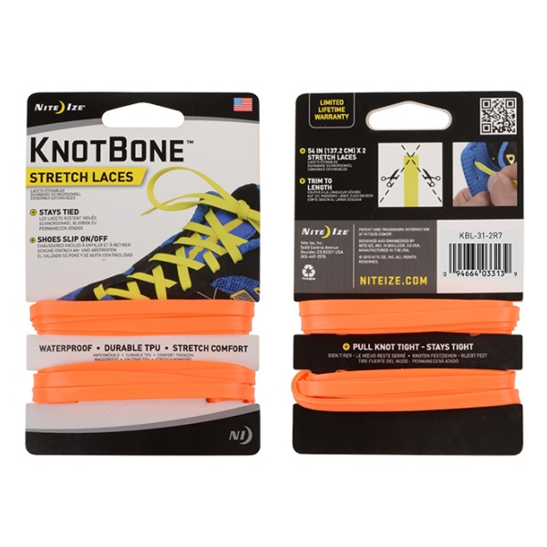 Шнурки Nite Ize Nite Ize Knotbone Stretch Laces 2 шт оранжевый nite ize gear tie 24 2pk bright orange