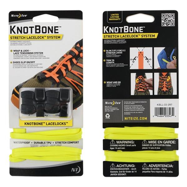 Шнурки Nite Ize Nite Ize Knotbone Stretch Laces 2 шт желтый nite ize gear tie 24 2pk bright orange