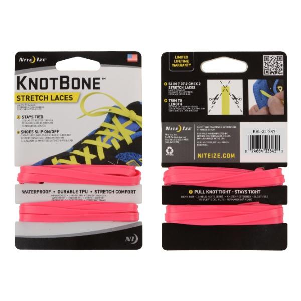 Шнурки Nite Ize Nite Ize Knotbone Stretch Laces 2 шт розовый nite ize gear tie 24 2pk bright orange