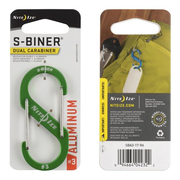 цена на Карабин Nite Ize Nite Ize S-Biner® Dual №3 светло-зеленый 3