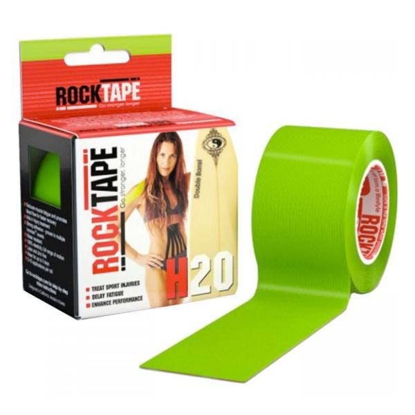 Кинезиотейп Rock Tape Rock Tape H2O зеленый 5смх5м