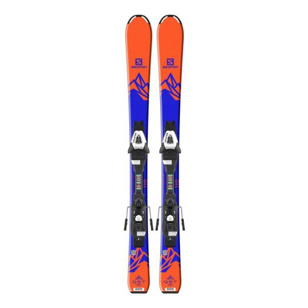 Горные лыжи Salomon Salomon E QST MAX Jr S + E C5 J75 оранжевый (18/19) горные лыжи salomon salomon e x race jr s e c5 j 17 18