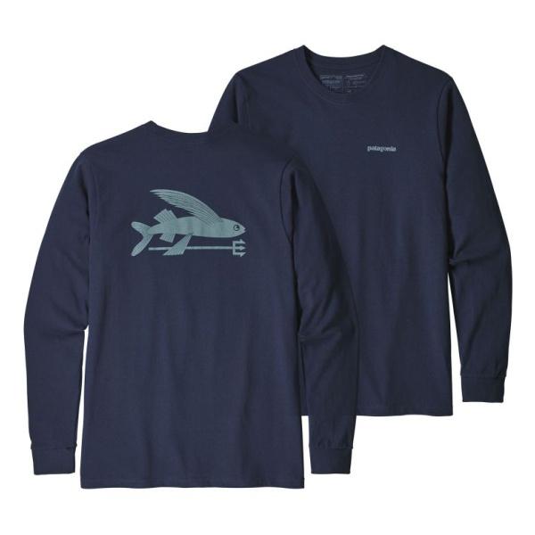 Футболка Patagonia Patagonia L/S Flying Fish Responsibili-Tee футболка patagonia patagonia shop sticker responsibili tee