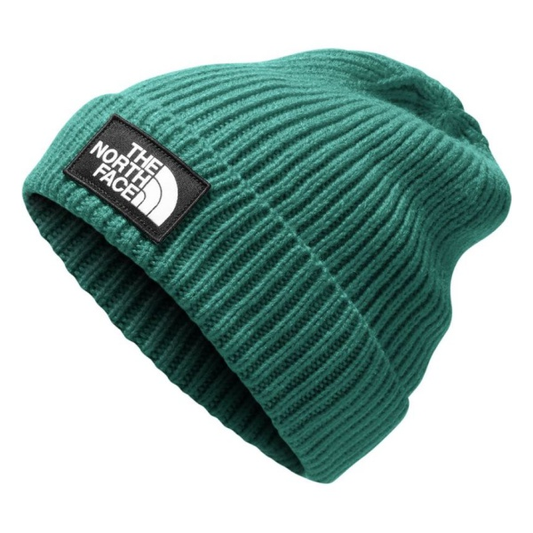 Шапка The North Face The North Face TNF Logo Box Cuffed Beanie зеленый ONE knot hem striped cuffed blouse