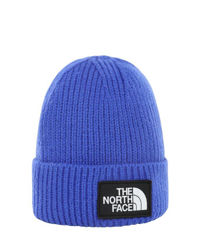 Шапка The North Face TNF Logo Box Cuffed Beanie синий ONE