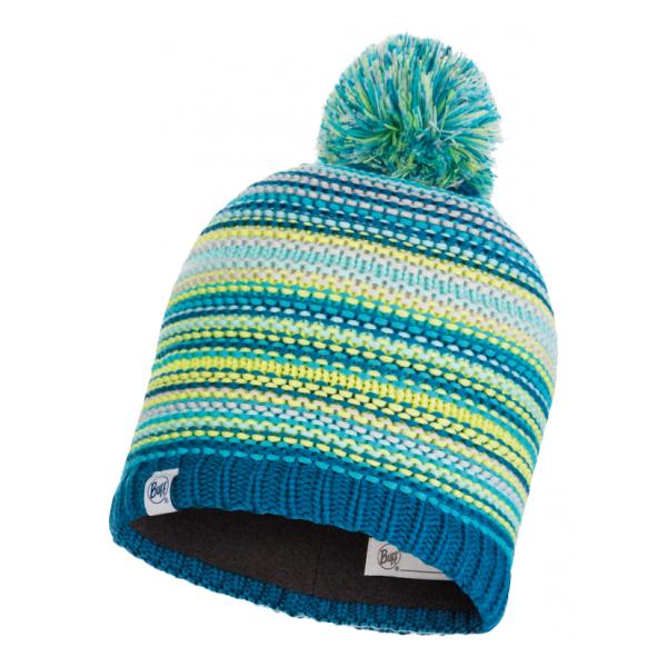 Шапка BUFF Buff Knitted & Polar Hat Amity детская голубой ONESIZE шапка buff buff knitted