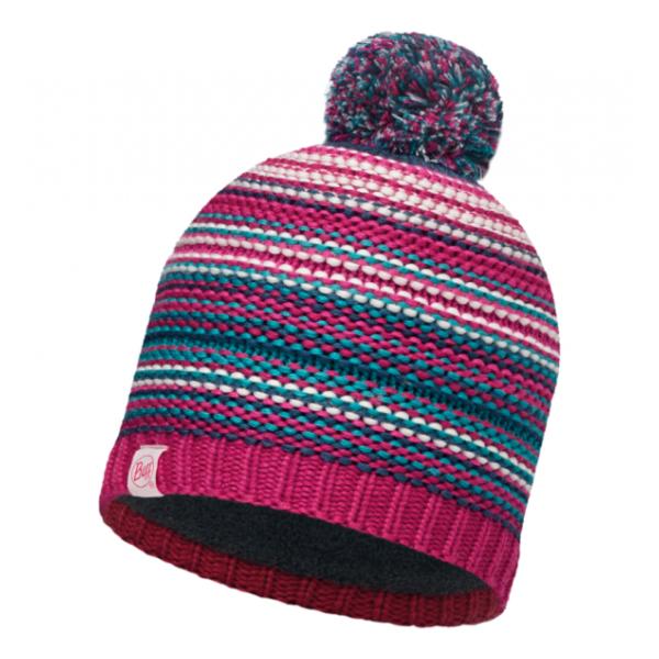 Шапка BUFF Buff Knitted & Polar Hat Amity детская малиновый ONESIZE шапка buff buff knitted