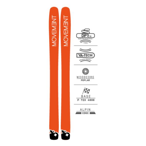 Купить Горные лыжи Movement Skis GO 115