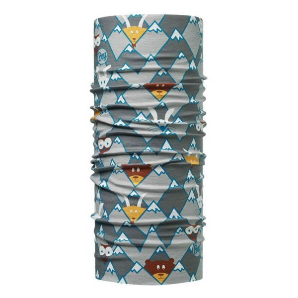 Бандана BUFF Buff Child Original серый ONESIZE buff бандана buff frozen child polar buff one size olaf blue navy