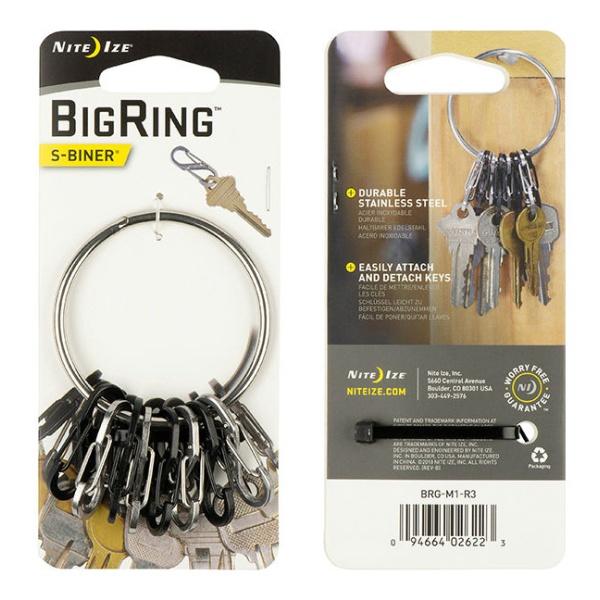 Брелок для ключей Nite Ize Nite Ize Big Ring серый держатель nite ize steelie car mount kit stck 11 r8