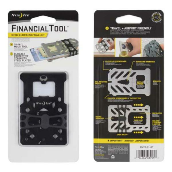 Инструмент карманный Nite Ize Nite Ize FinancialTool RFID черный держатель nite ize steelie car mount kit stck 11 r8