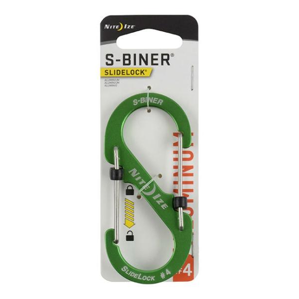 Карабин металлический Nite Ize Nite Ize S-Biner Slidelock светло-зеленый 4