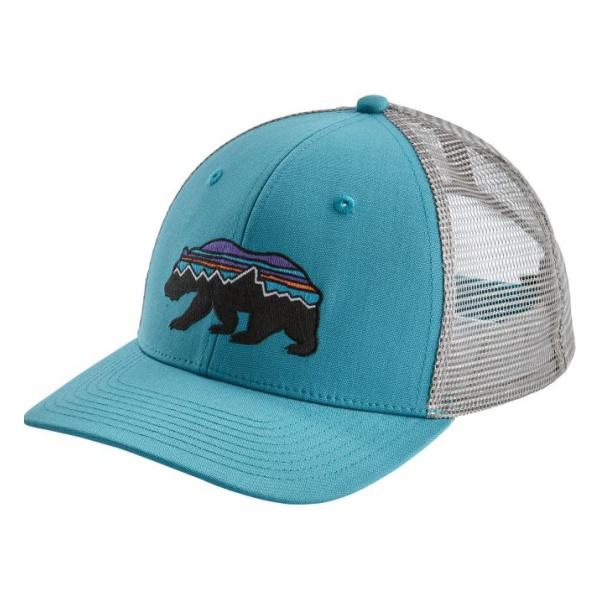Кепка Patagonia Patagonia Fitz Roy Bear Trucker Hat голубой ONE цена и фото