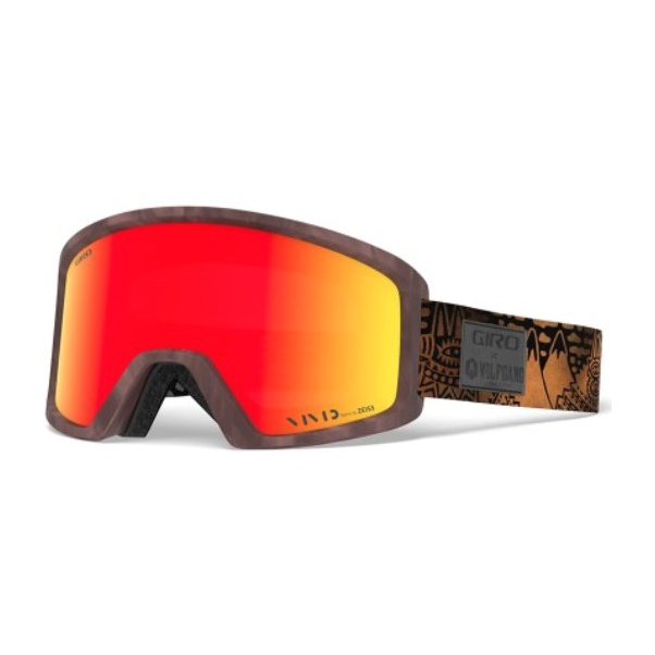 Горнолыжная маска Giro Giro Blok коричневый ADULT линза giro giro blok красный