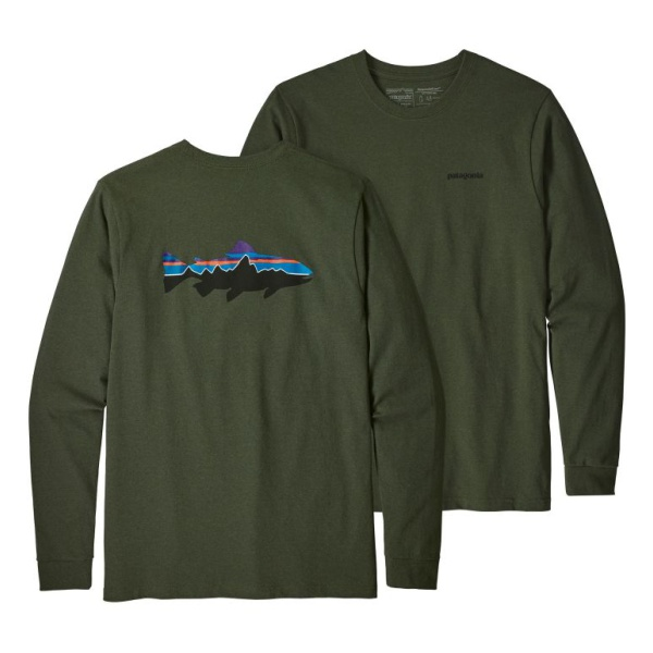 Футболка Patagonia Patagonia L/S Fitz Roy Trout Responsibili-Tee roy roger s rugged p