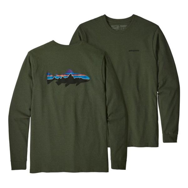 Футболка Patagonia Patagonia L/S Fitz Roy Trout Responsibili-Tee футболка patagonia patagonia shop sticker responsibili tee