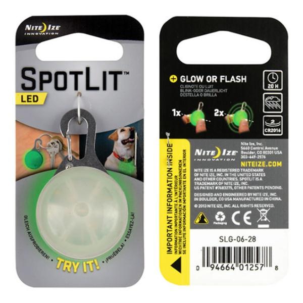 Светодиодный брелок Nite Ize Nite Ize Spotlit зеленый