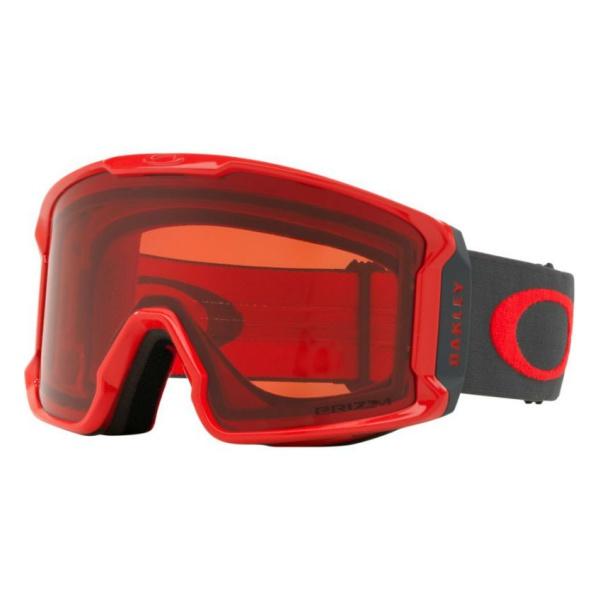 Горнолыжная маска Oakley Oakley Line Miner красный oakley airbrake mx herlings signature series goggles orange frame fire iridium lens