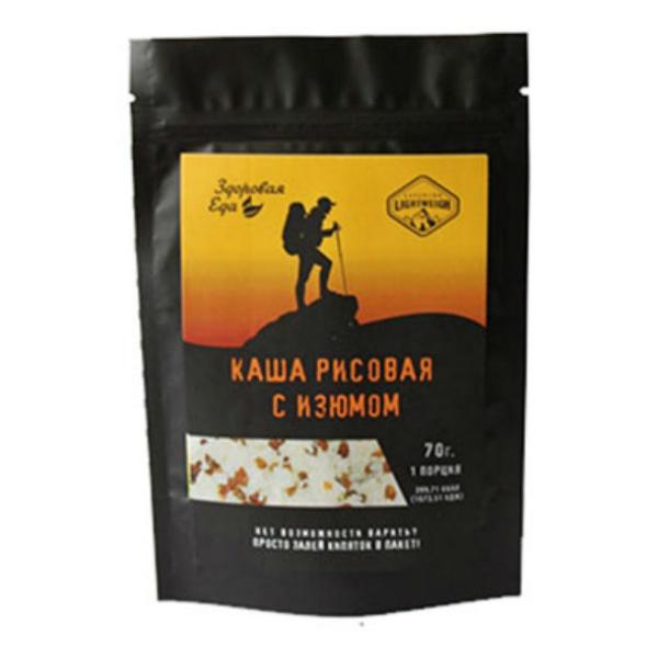 Туристическое питание Здоровая Еда Каша рисовая с изюмом (70 г)  - купить со скидкой