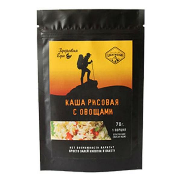 Купить Туристическое питание Здоровая Еда Каша рисовая с овощами (70 г)