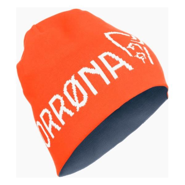 Шапка Norrona 29 Thin Logo Beanie оранжевый ONE*