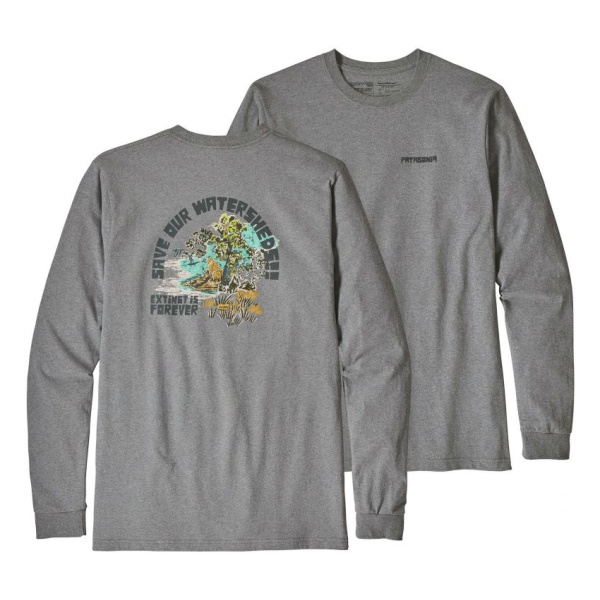 Футболка Patagonia Patagonia L/S Save Our Watersheds Responsibili-Tee рюкзак patagonia patagonia nine trails 18l женский светло голубой s