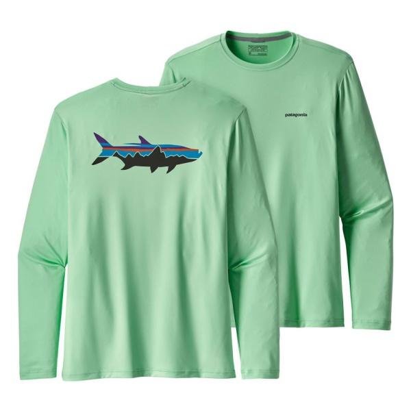 Футболка Patagonia Patagonia Graphic Tech Fish Tee embroidered tape tie neck cutout graphic tee