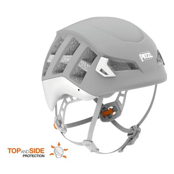 Каска Petzl Petzl Meteor серый M/L крепёж на каску petzl helmet mount adapt