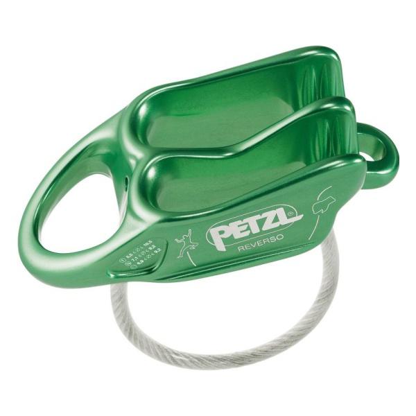 Страховочно-спусковое устройство Petzl Petzl Reverso зеленый спусковое устройство petzl huit