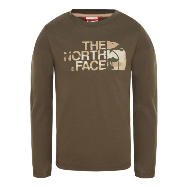 Футболка The North Face The North Face Easy L/S Tee детская кепка the north face the north face youth horizon детская темно розовый s