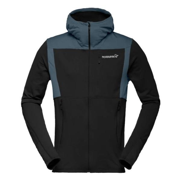 Куртка Norrona Norrona Falketind Warm1 Stretch Zip Hoodie черный L panel design fleece zip up hoodie