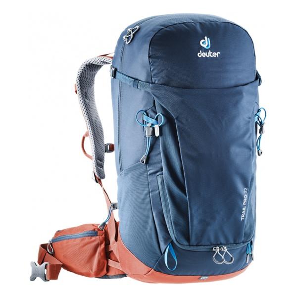 цена Рюкзак Deuter Deuter Trail Pro 32 темно-синий 32л онлайн в 2017 году