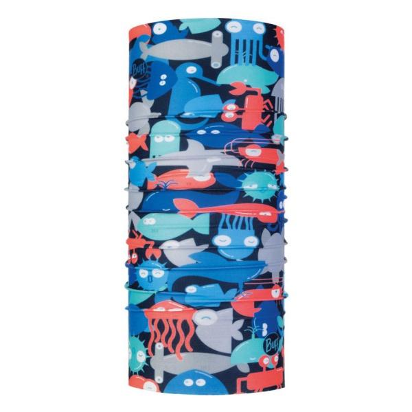 Бандана BUFF Buff Coolnet® UV+ детская темно-голубой ONESIZE банданы buff бандана high uv protection high uv buffsolid fiery red