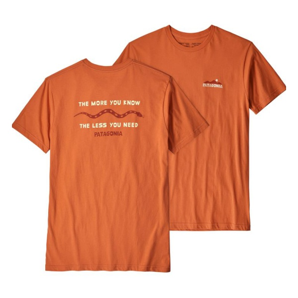 Футболка Patagonia Patagonia The Less You Need Organic T-Shirt patagonia patagonia arbor pack 26l 26л