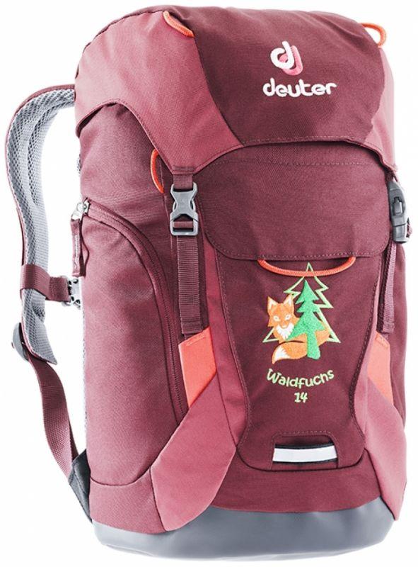 цена Рюкзак Deuter Deuter Waldfuchs 14 темно-красный 14Л онлайн в 2017 году