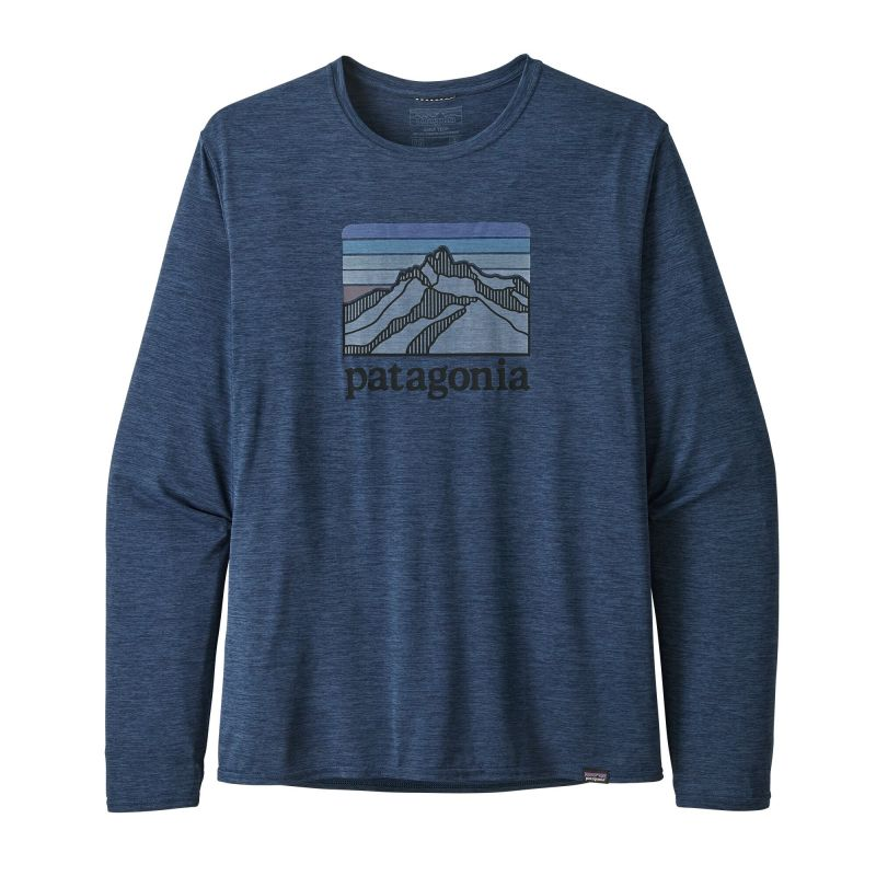 Футболка Patagonia Patagonia Long-Sleeved Capilene Cool Daily Graphic Shirt patagonia patagonia capilene® 1 t shirt