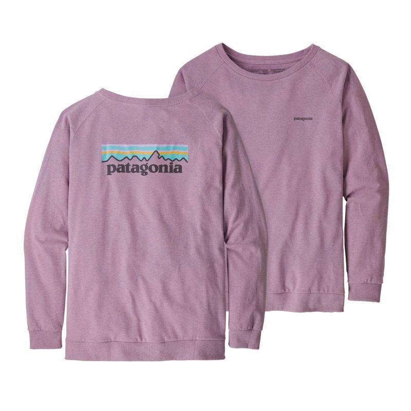 Купить Футболка Patagonia Long-Sleeved Pastel P-6 Logo Responsibili-Tee женская