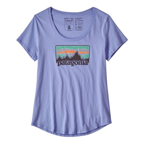 Футболка Patagonia Patagonia Solar Rays '73 Organic Scoop T-Shirt женская elegant scoop neck printed short sleeve loose fitting chiffon t shirt for women