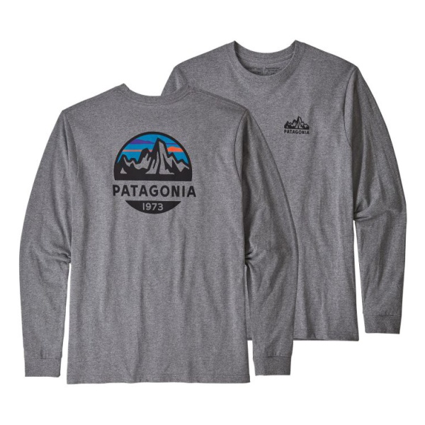 Футболка Patagonia Patagonia L/S Fitz Roy Scope Responsibili-Tee roy roger s rugged p