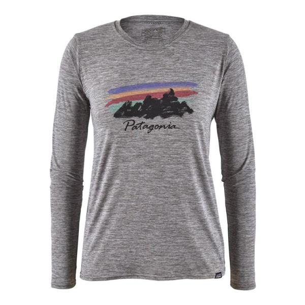 Футболка Patagonia Patagonia Long-Sleeved Capilene Cool Daily Graphic Shirt женская цена