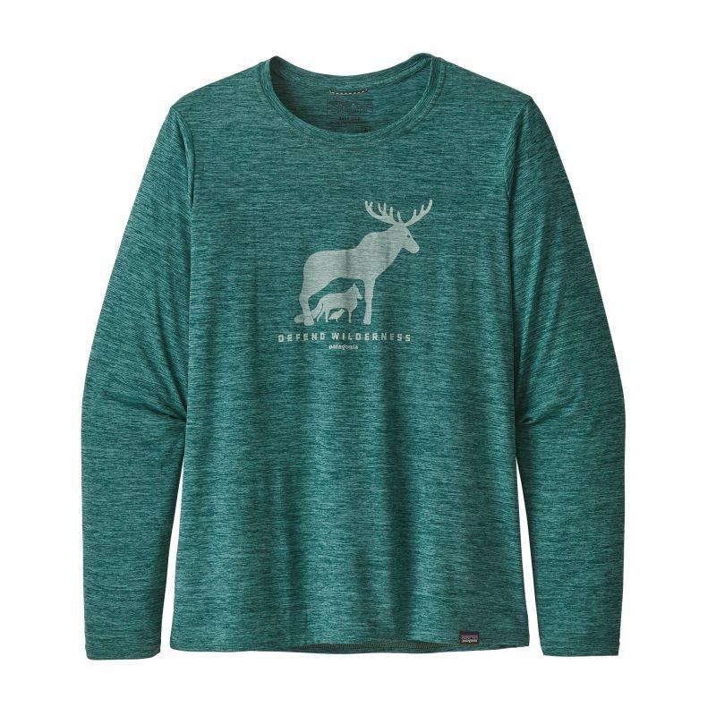 Футболка Patagonia Long-Sleeved Capilene Cool Daily Graphic Shirt женская