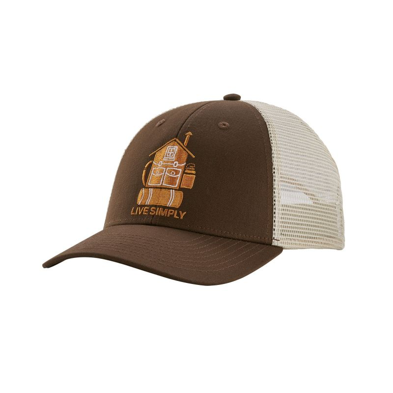Бейсболка Patagonia Patagonia Live Simply Home Lopro Trucker Hat коричневый ONE бейсболка patagonia patagonia live simply pocketknife trad cap one