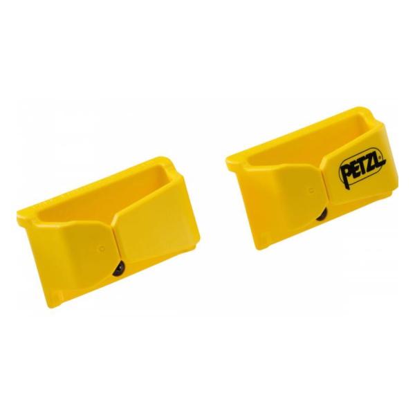 Крепление Petzl для страховочного стропа с карабином желтый