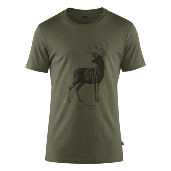 Футболка FjallRaven Fjallraven Deer Print T-Shirt floral print striped tunic t shirt