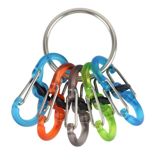 Брелок для ключей Nite Ize Niteize Key Ring Locker с пластиковыми карабинами серый