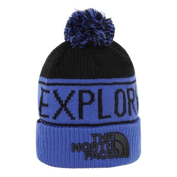 купить Шапка The North Face The North Face Retro Pom Beanie синий ONE по цене 2710 рублей
