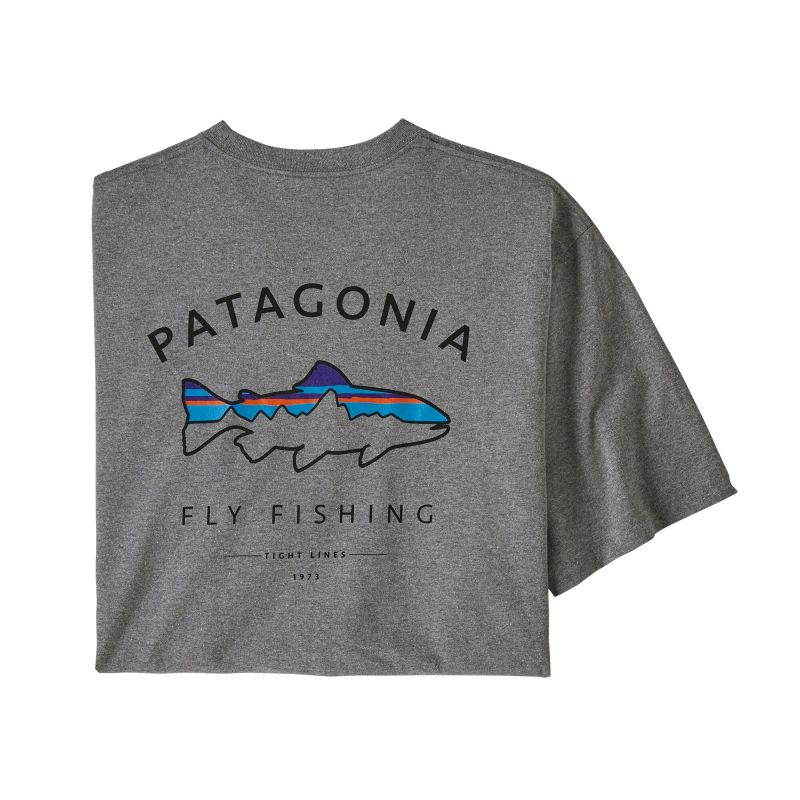 Футболка Patagonia Patagonia Framed Fitz Roy Trout Responsibili-Tee футболка patagonia patagonia l s p 6 logo responsibili tee
