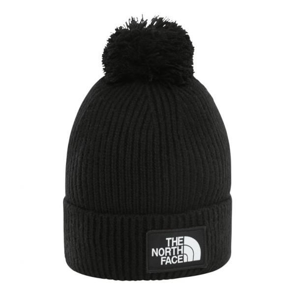 Шапка The North Face TNF Logo Box Pom черный OS