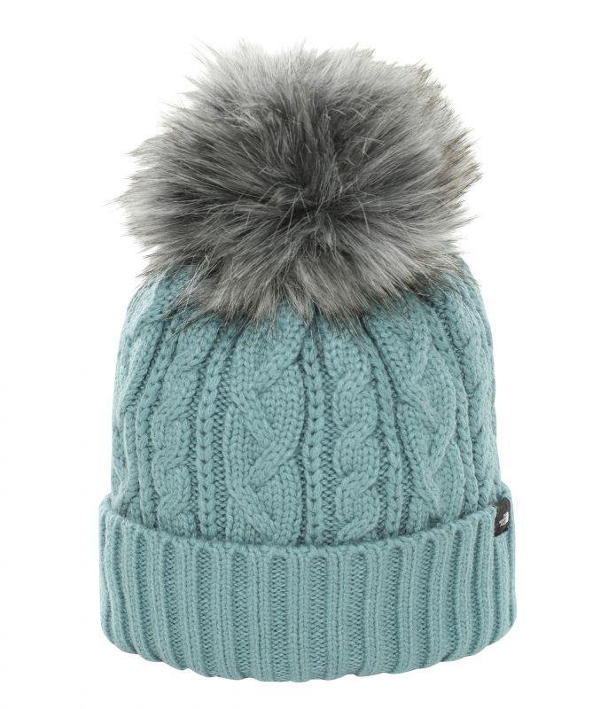 Шапка The North Face Oh-Mega Fur Pom женская зеленый ONE