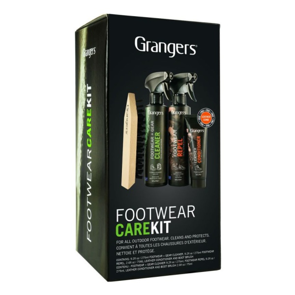 Набор для ухода за обувью Grangers Footwear Repel, Cleaner, Leather Conditioner
